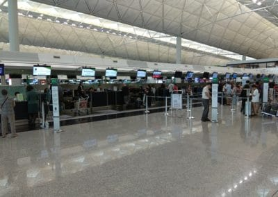 Eva Air Check in Counters at Hong Kong