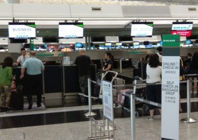 Online Check In Baggage Drop Counters at Hong Kong for Eva Air