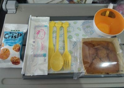 Hello Kitty special meal tray on A330
