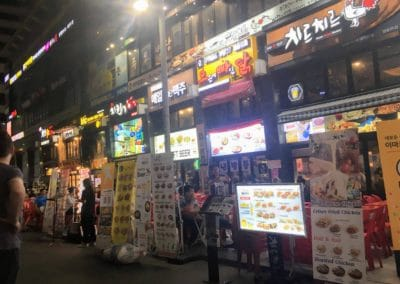 Fried Chicken shops in Myeongdong