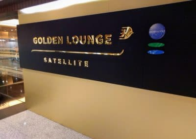 Golden Lounge Satellite Sign