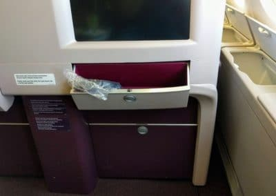 TV & Leg Space in Business Class on Malaysia Airlines A380