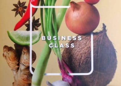Malaysia Airlines Business Menu Cover