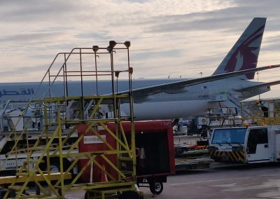 Qatar Boeing 777 at Gate 204 Manchester